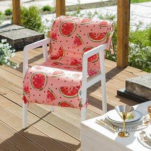 Подушка на уличное кресло Арбузы, 50?100+2 см, репс с пропиткой ВМГО, 100% хлопок