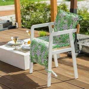 Подушка на уличное кресло  «Геометрия», 50 ? 100 см + 2 см, репс с пропиткой ВМГО, 100%-ный хлопок