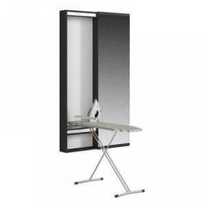Пенал с зеркалом с гладильной доской Светлана, 500х150х1740, Венге