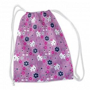 Сумка-рюкзак Кошки и цветочки