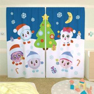 Новогодние шторы в детскую