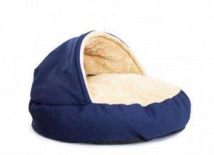 """Лежак """"Домик"""", размер  65 см, цвет синий"""