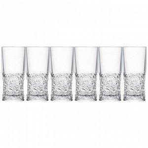 """Набор стаканов для воды из 6 шт. """"soul"""" 350 мл. высота=15,5 см."""