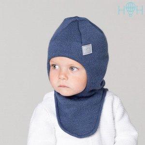 Шапка-шлем зимняя со светоотражающим шевроном, индиго