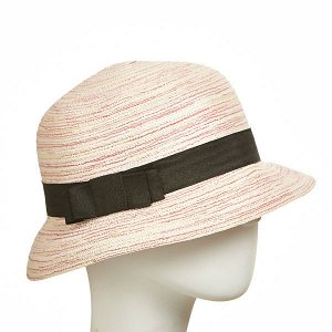 летняя светло-розовая шляпка