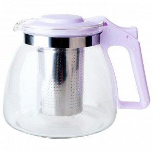 Чайник заварочный 900 мл с фильтром AK-5514/15A лавандовый