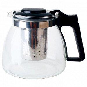 Чайник заварочный 900 мл с фильтром AK-5514/25A черный