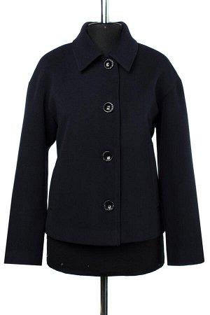 01-08534 Пальто женское демисезонное Пальтовая ткань navy