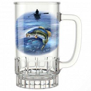 """Кружка для пива 450 мл 1040-Д """"Рыбалка"""""""