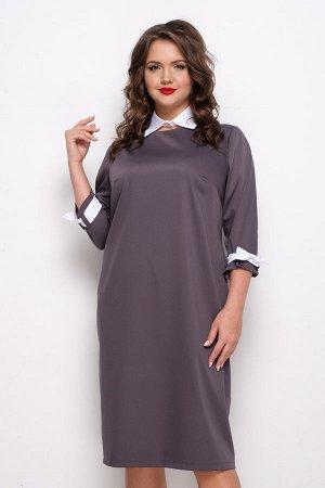 Платье Грей энд Вайт (2 в 1) П669-1
