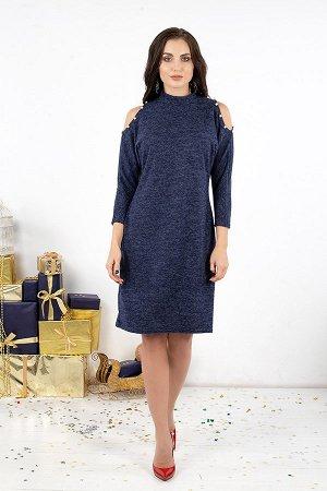 Платье Городской шик (синий) П519-8