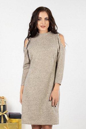 Платье Городской шик (нюд) П526-8