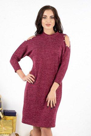 Платье Городской шик (бордо) П525-8