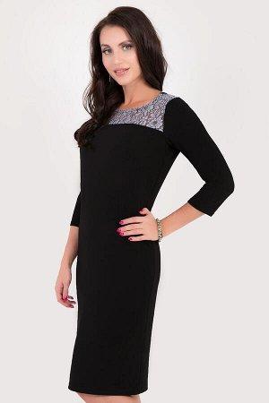 Платье, р.54, цвет черный
