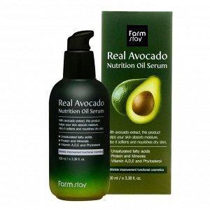FarmStay Real Avocado Nutrition Oil Serum Питательная сыворотка с маслом авокадо 100 мл