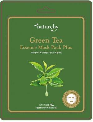 Премиальная маска для лица Green Tea Essence Mask Pack Plus