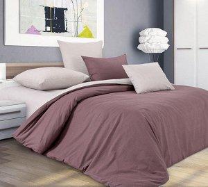 Комплект постельного белья 1,5-спальный, поплин (Шоколадный крем)