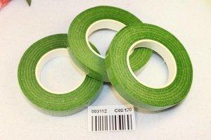 Тейп лента 12мм (флористическая)  светло-зеленого цвета, цена за 1шт.