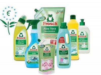 Чистота в доме! UNICUM, FROSCH и EMSAL — Frosch – забота о природе и человеке — Порошки, концентраты и гели