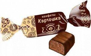 Конфеты Аппетитная глазированная шоколадом конфета в виде батончика с округлыми формами. Под слоем глазури аппетитная пралиновая начинка с крошками печенья, темная, с насыщенным вкусом натурального ка