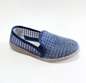 Туфли Сетка жен. синий