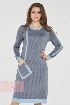 Платье женское-. Цвет: 7067/585 небесный/графит