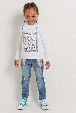 Брюки джинсовые детские для девочек Osen синий