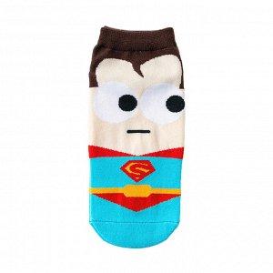 """Короткие носки р.35-40 """"Супергерои"""" Супермен"""