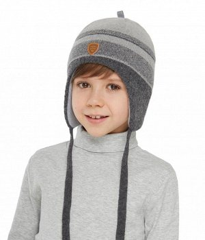 Продам классную зимнюю шапку на мальчика 50-52р. цвет синий с серым.