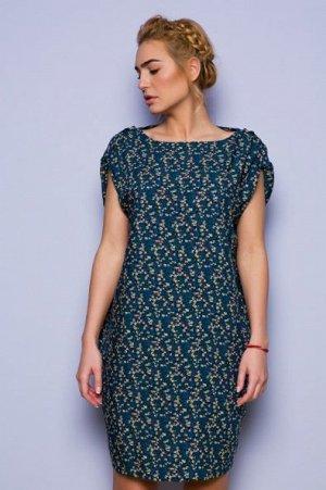 Платье Скидка! Стоило 2688р.! Поплин (60% хлопок, 40% вискоза). Легкое платье с мелким принтом и поясом в комплекте. Очень легкая приятная ткань. Невероятно комфортное, платье отлично садится на любой