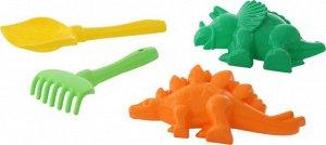 Набор №564: лопатка №5, грабельки №5, формочки (динозавр №1 + динозавр №2)