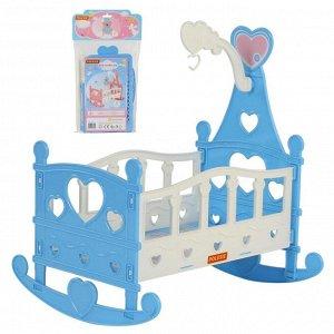 Кроватка-качалка сборная для кукол №3 (8 элементов) (в пакете)