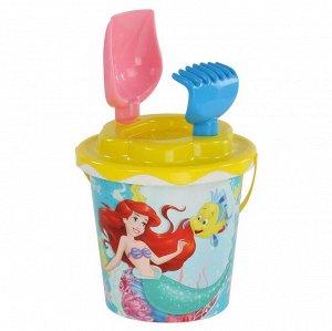 Набор Disney «Русалочка» №3: ведро с накл., сито, лопатка №5, грабельки №5 65940 (1/16)