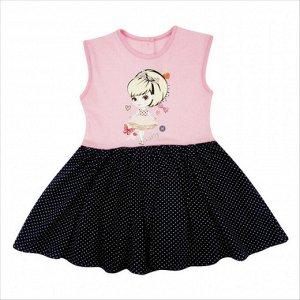 Платье 7128/2 (розовое, рисунок)