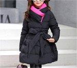 Куртка утепленная детская для девочек без капюшона
