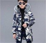 Куртка утепленная детская для мальчиков с капюшоном