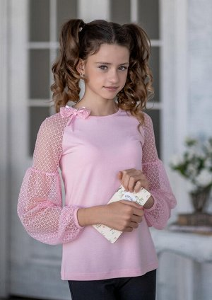 Грезе блузка трикотажная розовый