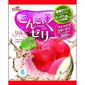 """Желе """"Yukiguni Aguri"""" порционное Конняку со вкусом яблока (6шт х18г), 108г, 1/12"""