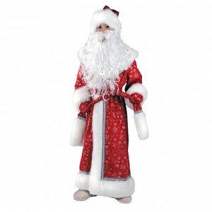 Карнавальный костюм «Дед Мороз», плюш, пальто, рукавицы, шапка, р. 32, рост 128 см