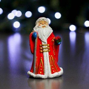 """Фигура """"Дед Мороз в красной шубе"""" 8х6х12см"""