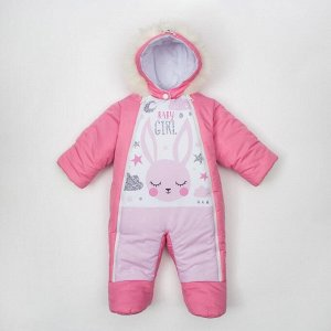 "Комбинезон зимний Крошка Я ""Sweet bunny"", розовый, р.22, рост 62-68 см"