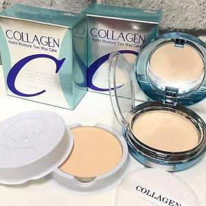 Enough Collagen Moisture Powder SPF25/PA++ - Коллагеновая пудра для увлажнения 21 тон натур-беж