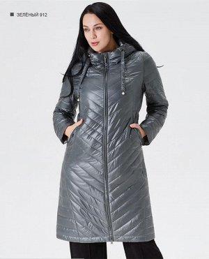 Пальто женское демисезонное, цвет зеленый