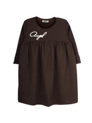 Платье Состав: хлопок 92%, эластан 8%  Платье с рукавом ниже локтя, с отворотом. Лиф отрезной. Изготовлено из кулирки с лайкрой.