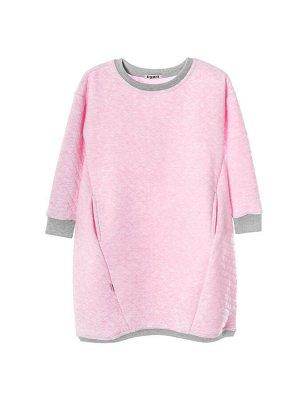 Платье 961 розово-серый