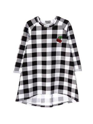 Платье 869А7 черно-белый