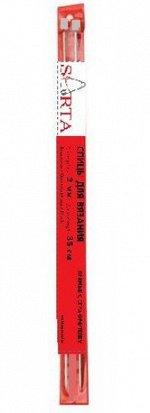 Спицы прямые d 2,0 мм 35 см с ограничителем (пара)