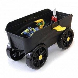 Ящик-подставка на колесах 4 в 1 (зеленый/черный) (4)