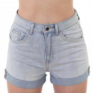 Женские джинсовые шорты с отворотом – трендовая высокая талия №210