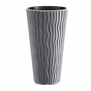 Кашпо для цветов SANDY SLIM DPSP400-405U серый 2 предмета 18 и 45л